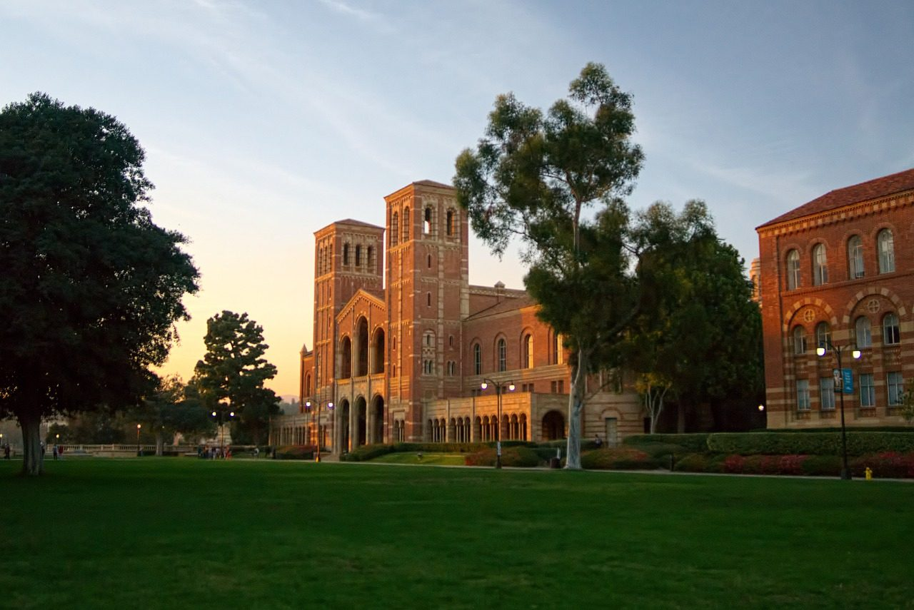 UCLA's Royce Hall Building in Westwood, CA